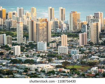 Honolulu Downtown Skyline, Oahu, Hawaii, USA