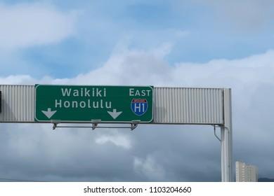 Honolulu Freeway Sign