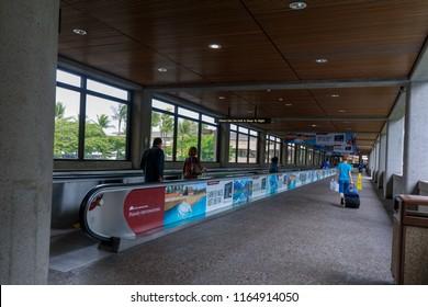 Honolulu, Hawaii - Aug 20, 2018 : Terminal scene of Daniel K. Inouye International Airport in Hawaii
