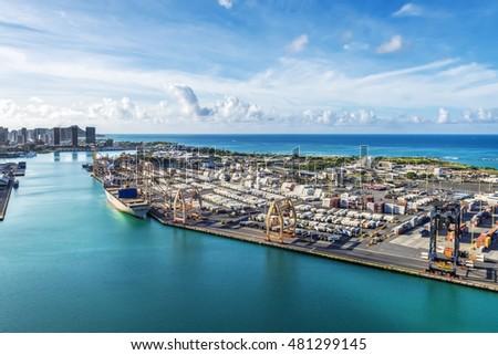 Port Of Honolulu >> Honolulu Hawaii August 14 Aerial View Stock Photo Edit Now