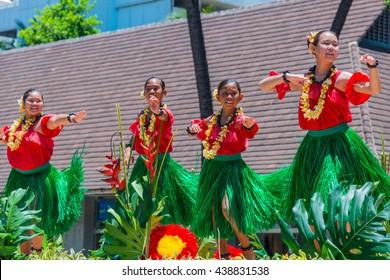 HONOLULU, HAWAII  June 11  The 100th Annual King Kamehameha Day Parade on Saturday June 11, 2016 during the final stretch along the famed Kalakaua Avenue in Waikiki Beach.
