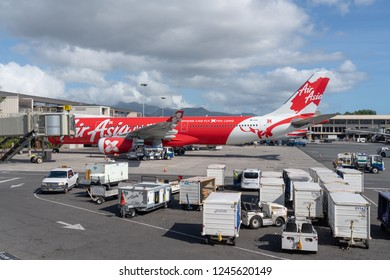 Honolulu, Hawaii - November 24, 2018 -  Air Asia Airbus A330-300 with tail number 9M-XXS on the ground at HNL international airport.