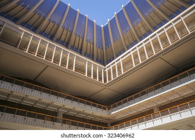 Honolulu, Hawaii, Oct. 4, 2015:  Interior view of the Hawaii State Legislature Building on Beritania Street in Honolulu.  The Capitol Building is scheduled for renovation later this year.
