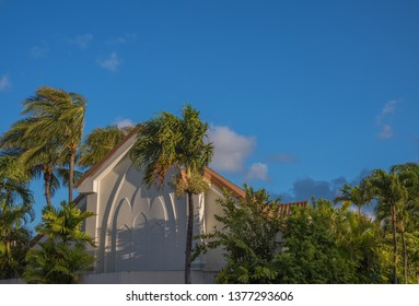 Honolulu, Hawaii, USA.  Apr. 22, 2019.  Hawaiian church nestled deep within the Honolulu Rainforest.