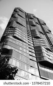 Honolulu, Hawaii, USA.  Apr. 23, 2019.  New ultra modern luxury condominium in the Kakaako District.