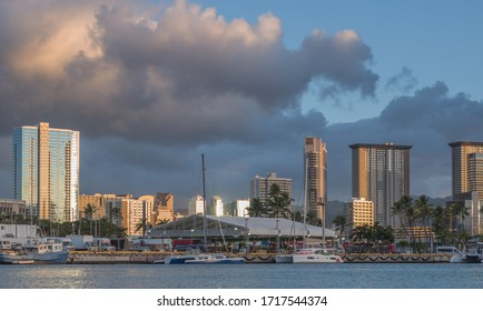 Honolulu, Hawaii, USA.  Apr. 29, 2020.   Virus pandemic has closed Waikiki except for construction and for a thorough cleaning.
