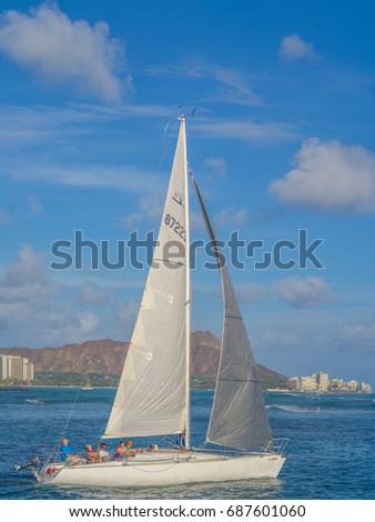 Honolulu Hawaii USA August 1 2017 Stock Photo (Edit Now) 687601060