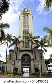 Honolulu, Hawaii, USA, November 25, 2016: Aloha Tower: The Aloha Tower is a lighthouse that is considered one of the landmarks of the state of Hawaii in the United States. Opened on September 11,1926.