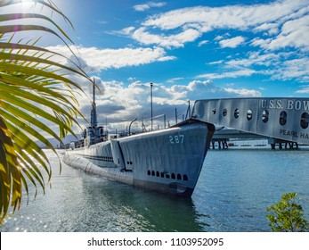 Honolulu, Hawaii, USA -September 1, 2017: USS Bowfin Submarine Pearl Harbor