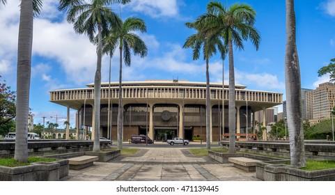 HONOLULU, HI - AUG 6:  Hawaii State Legislature on August 6, 2016 in Honolulu Hawaii. The Hawaii State Legislature is the state legislature of the U.S. state of Hawaii.