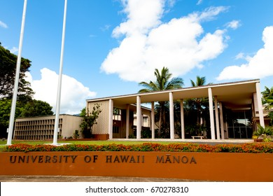 Honolulu, HI, USA - May 26, 2017: University of Hawaii at Manoa: University of Hawaii at Manoa is a public co-educational research university as well as the flagship campus of University of Hawaii.