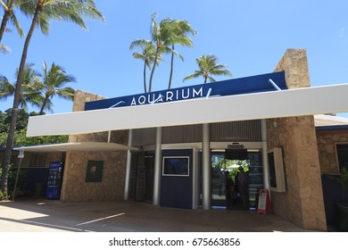 Honolulu, HI, USA - May 31, 2017: Waikiki Aquarium: The Waikiki Aquarium is an aquarium in Honolulu. Founded in 1904, it is the second oldest public aquarium in the United States. Since 1919.