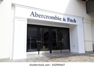 Honolulu, HI, USA - November 24, 2016: Abercrombie & Fitch: Shop of Abercrombie & Fitch. Its an retailer that focuses on upscale casual wear for young consumers, with over 400 locations in the US.