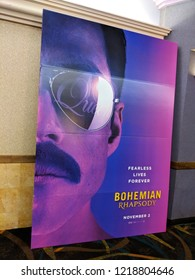 Honolulu - June 3, 2018: Bohemian Rhapsody Movie Poster featuring the band Queen at Regal Movie Theater in Honolulu, Hawaii.