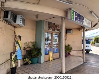 Honolulu - June 30, 2018:  Haili's Hawaiian Food Entrance.  It serve traditional Hawaiian cuisine like lau lau, kalua pig, ahi poke and more. Family owned since 1950.