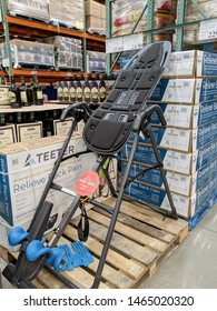 Honolulu - March 16, 2019: Teeter Relieve Back Pain Inversion Machine on Display inside Costco.