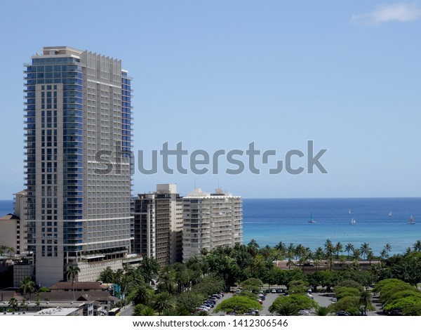 Honolulu May 1 2016 Aerial Iconic Stock Photo Edit Now