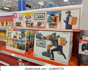Honolulu - May 29, 2018: Nintendo Labo Hardware for the popular Nintendo Switch inside Best Buy store. Nintendo Labo is a gaming and construction toy platform developed by Nintendo.