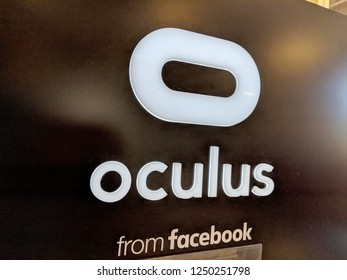Honolulu - May 29, 2018: Oculus from Facebook display in Honolulu Best Buy store.   Oculus VR is an American technology company founded by Palmer Luckey, Brendan Iribe, Michael Antonov, Nate Mitchell.