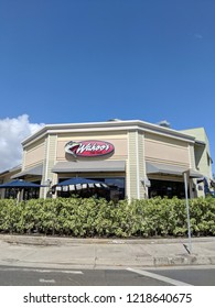 Honolulu - May 30, 2018: Wahoo Mexican Restaurant on a nice day.