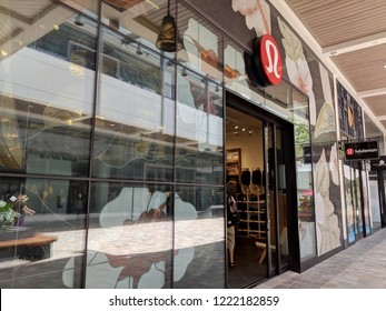 Honolulu - May 31, 2018: Lululemon store exterior and sign at the Ala Moana Center has over 260 stores. Lululemon athletica inc., styled as lululemon athletica, is a Canadian athletic apparel retailer