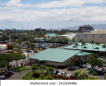 Honolulu - May 6, 2012: Aerial View Of Pier 1 Imports and Ward Village in Kakaʻako.  Pier 1 Imports Inc. is a Fort Worth, Texas–based omnichannel retailer specializing.