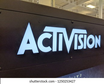 Honolulu - September 7, 2018:  Activision Logo inside Best Buy store.  Activision Publishing, Inc. is an American video game publisher. It was founded on October 1, 1979.