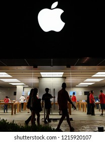 Honolulu, USA - November 24, 2016: People enter an Apple store as the US technology giant launches the new iPhone 7 and iPhone 7 Plus smartphones.