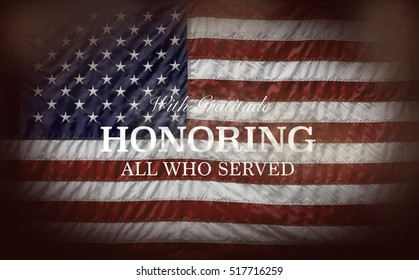 Honoring All Who Served with flag