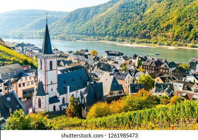 Hony Cross Church in Assmannshausen - the Rhine Gorge, Germany