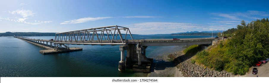 Hood Canal Floating Bridge Port Ludlow Washington USA