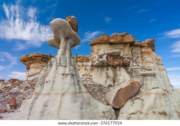 Hoodoos in Badlands of New Mexico