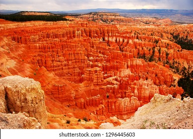 Hoodoos, thin eroded rock, in Bryce Canyon National Park, Utah, USA