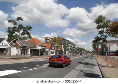 Hoogeveen, Netherlands: July 22, 2012 - Schutstraat in Hoogeveen, Netherlands