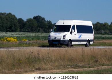 Hoogeveen, the Netherlands- June 30, 2018: taxi Nuis on the N48 motorway, the Netherlands