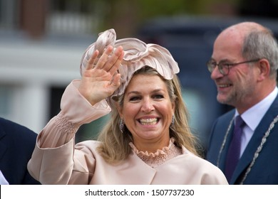 Hoogeveen, the Netherlands - September 18, 2019: Visit of King Willem-Alexander and Queen Maxima to Hoogeveen, the Netherlands