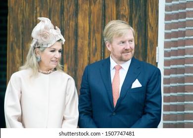 Hoogeveen, the Netherlands - September 18, 2019: royal couple Maxima and Willem-Alexander
