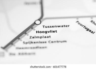 Tussenwater Station Rotterdam Metro Map Stock Photo Royalty Free
