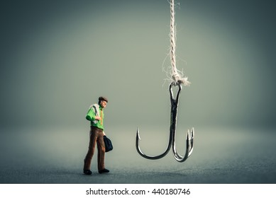 Hook and businessman