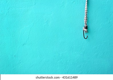 hook rope for hanging housework equipment with ocean colorful wall