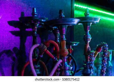 hooka ready to smoke in disco club