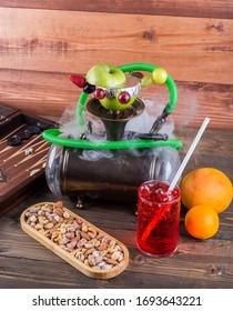 hookah constept hookah nuts and snacks fruit plate türk nargile