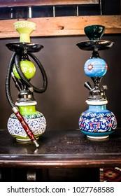 hookah sisha pipe with beautiful color; water pipe; smoking