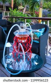 Hookah smoking in paradise