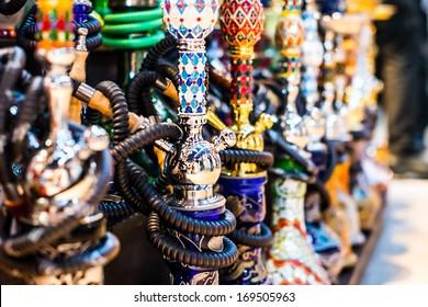Hookah in souvenir shop at Dubai, UAE