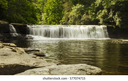 Hooker Falls at the Dupont State Forest at the Asheville, North Carolina