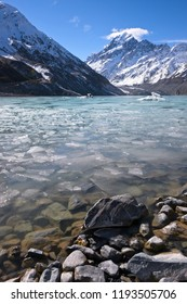 The Hooker Lake melting in Spring