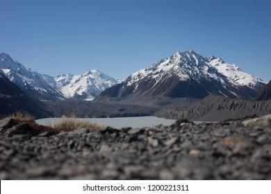 Hooker Valley at Mount Cook, Aoraki National Park, New Zealand