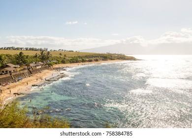 Hookipa beach at sunset on Maui, Hawaii, USA
