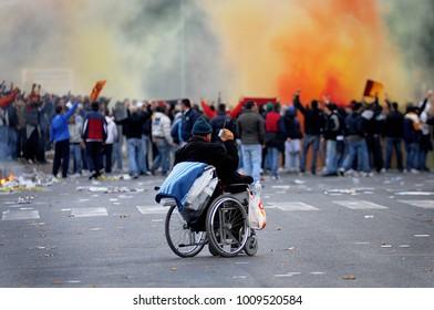 Hooligans in Rome